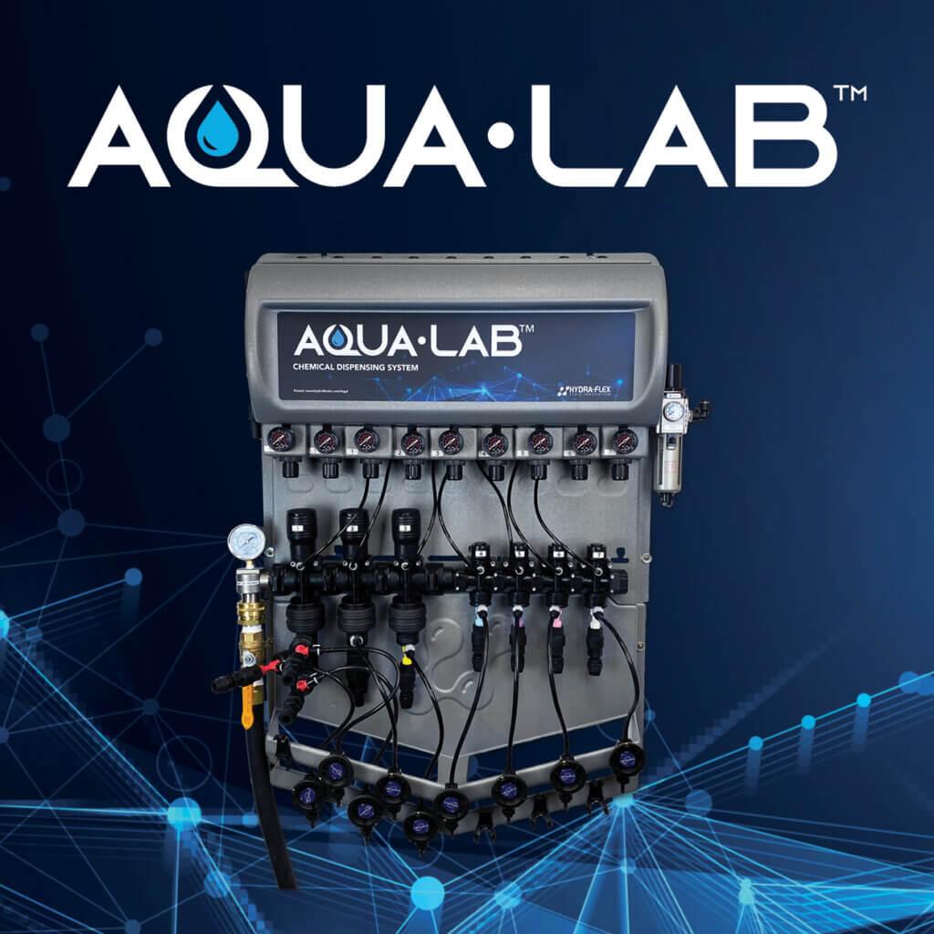 Aqua-Lab photo and photo of Aqua-Lab chemical dispensing system